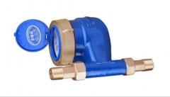 厂家直销五羊水表精密 立式水表冷、热水表4分水表 立式家用水表