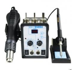8586A数显热风枪焊台二合一恒温电烙铁维修工具热风拆焊台厂家