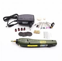 批发跨境微型电磨电钻多功能玉石雕刻机手电钻工具文玩diy打磨 P500-11二圆插