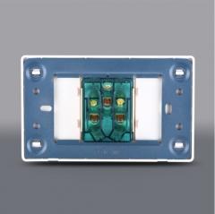 厂价促销 118型K2土豪金PC料墙壁开关插座面板一位五孔插座 五孔插座(一位)