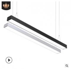 led吊线灯办公长条灯无缝拼接线条灯写字楼室内照明方通灯厂家