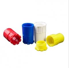 PVC红蓝色罗接 PVC罗接16 20杯梳锁扣线盒直接锁母穿线管配件管件