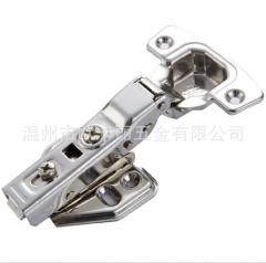 批发新款1.5加厚不锈钢液压固定铰链 橱柜衣柜合页静音缓冲门铰
