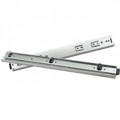 厂家直销 办公键盘滑轨滑道钢珠三节轨道底装带耳朵导轨45宽滑轨 16寸/付
