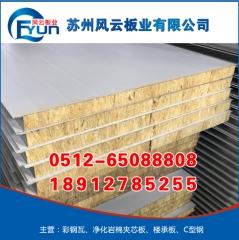 净化彩钢夹芯板_净化岩棉夹芯板_净化岩棉板 可选
