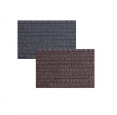 长条石纹保温装饰金属压花一体板 聚氨酯夹心复合轻钢别墅外墙板