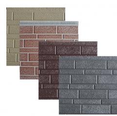 厂家批发宽窄砖金属雕花板轻钢别墅外墙保温装饰一体板金属建材