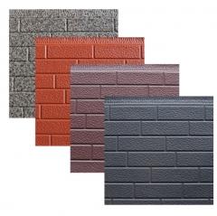 厂家批发轻钢别墅外墙保温板聚氨酯保温隔热一体板金属雕花板 16mm*383mm*3m