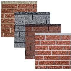 迪拜尔防砖纹外墙保温装饰一体板金属雕花板轻钢别墅外墙保温板 16mm*380mm*5000