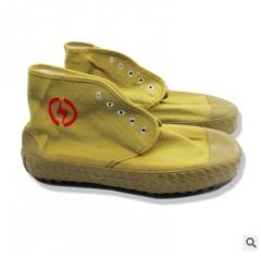 直销批发金步安10kv绝缘鞋帆布橡胶劳保电工鞋耐磨耐穿防滑黄球鞋