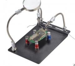 磁性放大镜维修夹具多功能维修平台主板电路固定工具手机维修夹具