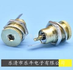 金属DC插座5521 5525 大电流DC母座 DC-099 5.5*2.1 2.5DC充电孔