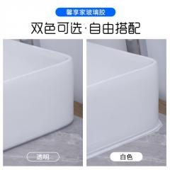 馨享家玻璃胶防水防霉厨卫耐高温瓷白色中性透明马桶密封封边硅胶