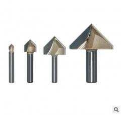 浪潮专业级V型刀 90度开槽折叠直角 修边机电木铣木工刀具雕刻机