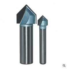 浪潮工业级V型刀 90度折边修边机刀头铝塑板开槽集成墙面木工铣刀