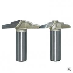 浪潮专业级梯弧刀橱柜门板修边机刀头开槽花边刀木工镂铣锣机刀