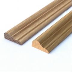 厂家定制实木顶角线实心木质阳角线批发白蜡木装饰线条橱柜顶角线