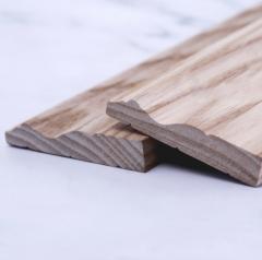 厂家直销水曲柳木质踢脚线实木地脚线定制天然实木踢脚线地脚线