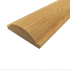 天然木线条装饰木线条欧式半圆木门套线实木窗套平板装饰压边线条