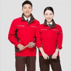 新款时尚纯棉工作服套装秋冬季电焊工装长袖男劳保服车间工服