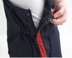 多口袋外贸工作服四季穿背带裤连体工作服汽修美容服来图加工定制