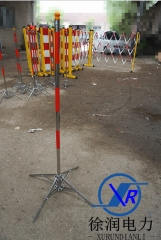 电力施工护栏不锈钢支架安全围栏支架围网围旗警示带防护围栏