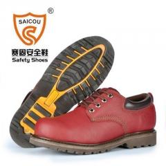 SAICOU/赛固工厂直销 钢头防砸防刺穿真皮固特异劳保鞋安全防护鞋