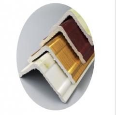 欧式仿大理石花纹护角线 PVC装饰线条厂家批发 质量保证欢迎选购
