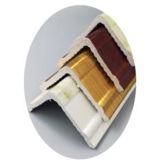 欧式PVC5*5护角装饰线条 仿大理石直角包边条 厂家直销现货供应