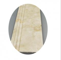 厂家批发PVC踢脚线 10公分欧式风格仿大理石花纹 现货供应 可定制