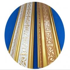 PVC顶角线 6公分压花系列各式压花颜色 型号齐全现货厂家直销-