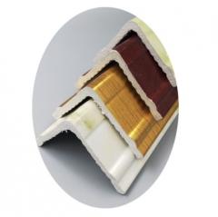 PVC护角线仿大理石装饰条 5公分 仿木纹欧式阳角线生产厂家批发