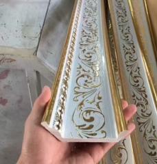 厂家直销 pvc顶角线 装饰线条 吊顶墙角阴角线 欧式压花线 10公
