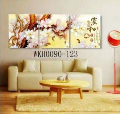 厂家直销 现代简约 客厅背景墙装饰画 玄关装饰画 60*60三联画