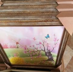 厂家直销 50*60电表箱装饰画 美式欧式 风格 抽象油画 推拉