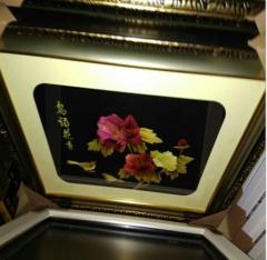 厂家直销 电表箱装饰画 推拉 餐厅装饰画 50*60麦秆画 北欧工艺