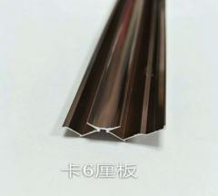 厂家直销 铝合金卡条 装饰线条 护墙板配套装饰条 工字型 阳角 收