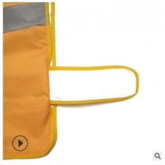 黄色牛津布反光背心防水城市管理骑行环卫义工专用反光马甲反光衣