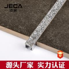 电视背景墙瓷砖现代简约电视墙边框装饰线黑色铝合金嵌水晶钻造型