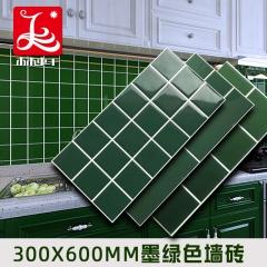 现货100 150餐厅店铺装修内墙砖北欧风墨绿色瓷砖深绿瓷片批发