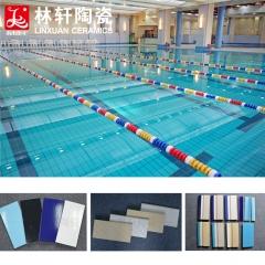 简约现代纯色泳池砖 240*115三色蓝及配套抓手国标泳池专用瓷砖