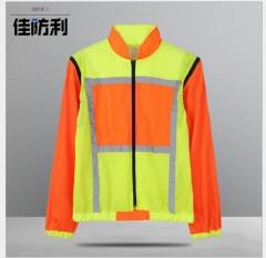 出口款式长袖反光衣服交通道路夜间安全醒目反光衣服工厂直销定制