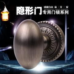 荐 玛雅电视墙球形隐形锁 黑色锌合金室内门锁 单面美式门锁