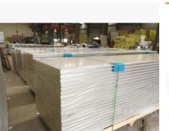夹芯彩钢板彩钢防火板岩棉板 夹芯板净化板无尘车间隔热板隔墙板