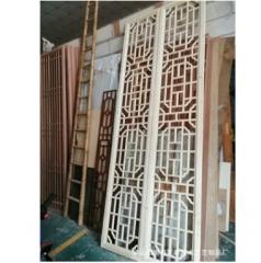 中式木格栅镂空客厅卧室电视背景墙隔断实木花格