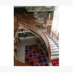 佛山森雕楼梯厂家 榉木楼梯 弧形楼梯 旋转楼梯定做