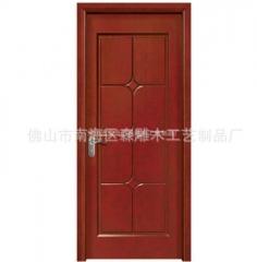 客厅中式手动实木门 家居卧室门原木门房间门定做