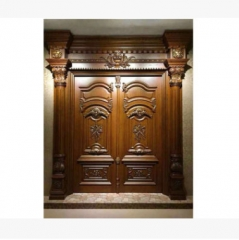 佛山实木门厂家实木对开大门 室内实木门 实木大门定做可来图定做