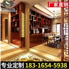 中式风格整木家居批发 实木中式博古架 家装品牌供应精品