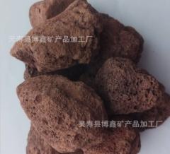 供应红色火山石 烤炉用多孔火山石 污水过滤 园艺火山石
